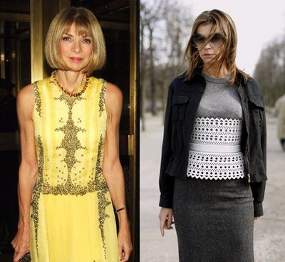 Anna Wintour and Parisian rival Carine Roitfeld