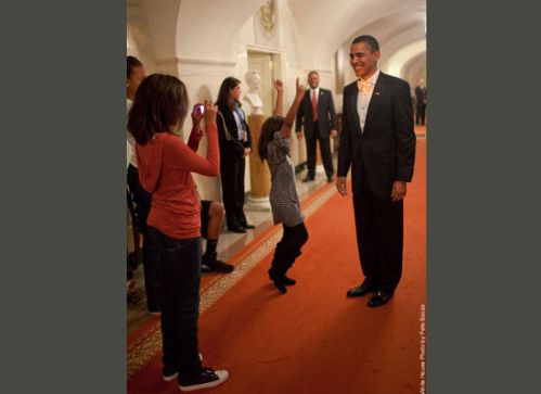 obama and girls