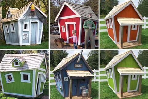 Build Crooked Playhouse Kits Diy Pdf Wood Supply Rare77yje
