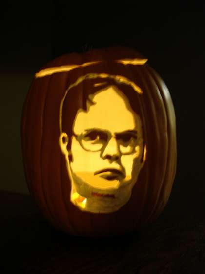 Dwight Schrute pumpkin
