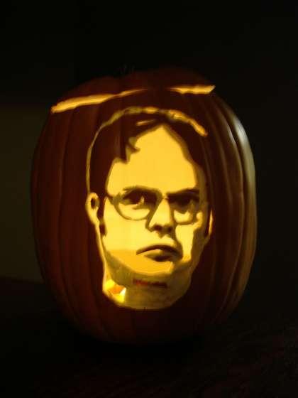 Dwight Schrute pumpkin